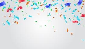 Abstrakter Hintergrund mit dem Glänzen von bunten Ballonen Geburtstag, Partei, Darstellung, Verkauf, Jahrestag und Verein-Entwurf lizenzfreie abbildung