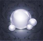 Abstrakter Hintergrund mit dem Glühen, Glaskugeln Lizenzfreies Stockbild