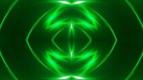 Abstrakter Hintergrund mit dem VJ-Fractalgrün kaleidoskopisch 3d, das digitalen Hintergrund überträgt stock video