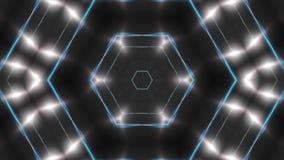 Abstrakter Hintergrund mit dem VJ-Fractalsilber kaleidoskopisch 3d, das digitalen Hintergrund überträgt stock video