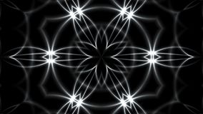 Abstrakter Hintergrund mit dem VJ-Fractalsilber kaleidoskopisch 3d, das digitalen Hintergrund überträgt lizenzfreie abbildung