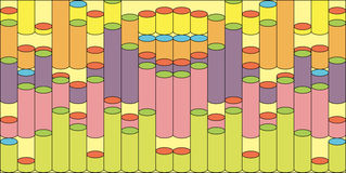Abstrakter Hintergrund mit den farbigen Zylindern eingestellt Vektor Abbildung