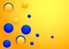 Abstrakter Hintergrund mit den gelben und blauen Kreisen Lizenzfreie Stockfotos