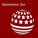Abstrakter Hintergrund mit der abstrakten Flagge von Amerika stock abbildung