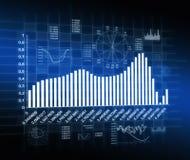 Abstrakter Hintergrund mit Diagramm Stockfotos