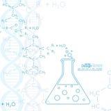 Abstrakter Hintergrund mit DNA-Molekülstruktur Stockbilder