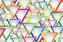 Abstrakter Hintergrund mit Dreiecken Stockfotos