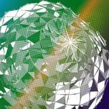 Abstrakter Hintergrund mit Dreiecken auf Digitaltechnik des Themas Lizenzfreie Stockfotografie