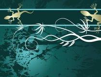 Abstrakter Hintergrund mit Eidechse Stockfoto