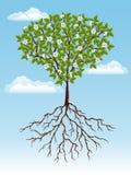 Abstrakter Hintergrund mit einem Baum Stockfoto