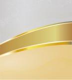 Abstrakter Hintergrund mit einem Goldstreifen hinunter das MI Stockfoto