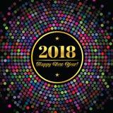 Abstrakter Hintergrund mit einer Aufschrift und Glückwünschen auf neuem 2018-jährigem Lizenzfreies Stockbild