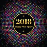 Abstrakter Hintergrund mit einer Aufschrift und Glückwünschen auf neuem 2018-jährigem Stockfotos