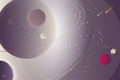Abstrakter Hintergrund mit einer Raumlandschaft, Lichteffekten und einem Textblock Lizenzfreie Stockbilder