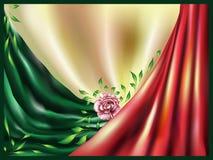 Abstrakter Hintergrund mit einer Rose Stockfoto