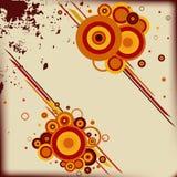 Abstrakter Hintergrund mit einigen Kreisen. Lizenzfreies Stockfoto