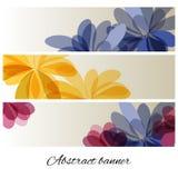 Abstrakter Hintergrund mit empfindlichen Blumen stock abbildung