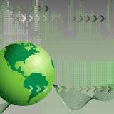 Abstrakter Hintergrund mit Erde Lizenzfreie Stockfotografie