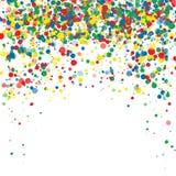 Abstrakter Hintergrund mit fallenden mehrfarbigen Konfettis Leerer Platz für Text Hintergrund für Feiertagskarten, Grüße vektor abbildung