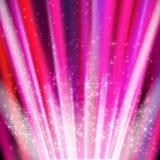 Abstrakter Hintergrund mit farbigen Linien und Licht Lizenzfreie Stockbilder