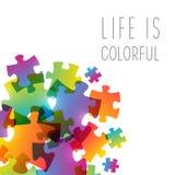 Abstrakter Hintergrund mit Farbpuzzlespiel lizenzfreie abbildung