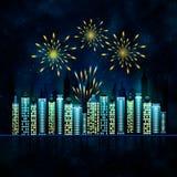 Abstrakter Hintergrund mit Feuerwerk Lizenzfreies Stockbild