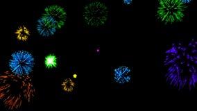 Abstrakter Hintergrund mit Feuerwerken CG-Animation stock video