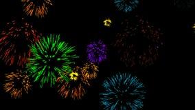 Abstrakter Hintergrund mit Feuerwerken CG-Animation stock footage