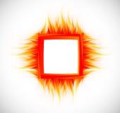 Abstrakter Hintergrund mit Flamme vektor abbildung