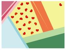 Abstrakter Hintergrund mit Formen des Herzens Stockbild
