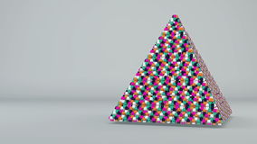 Abstrakter Hintergrund mit futuristischem buntem pyramide stock abbildung