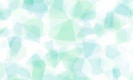Abstrakter Hintergrund mit geformten blauen Schatten des Kristalles Stockbild