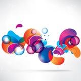 Abstrakter Hintergrund mit geometrischen Formen Lizenzfreies Stockbild