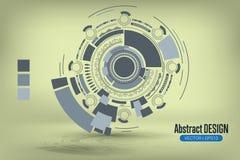Abstrakter Hintergrund mit geometrischen Formen Vektor Abbildung