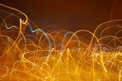 abstrakter Hintergrund mit Geschwindigkeitsbewegung von Lichtern Lizenzfreies Stockbild