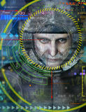Abstrakter Hintergrund mit Gesicht Lizenzfreies Stockbild