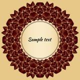 Abstrakter Hintergrund mit Gestaltungselement - Mandala Stockfotografie