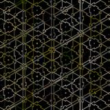 Abstrakter Hintergrund mit Gitter gemasert durch bunte Dreiecke vektor abbildung