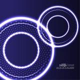 Abstrakter Hintergrund mit glühenden Kreisen Lizenzfreies Stockfoto
