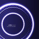 Abstrakter Hintergrund mit glühenden Kreisen Stockbild