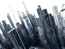 Abstrakter Hintergrund mit Glasblöcken Stockfotografie