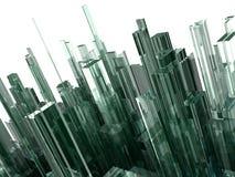 Abstrakter Hintergrund mit Glasblöcken Stockbilder