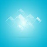 Abstrakter Hintergrund mit glatten Elementen Lizenzfreies Stockbild
