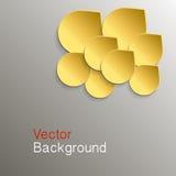 Abstrakter Hintergrund mit Gold auf Wassertropfen Lizenzfreie Stockfotografie