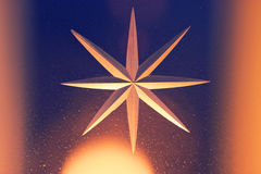 Abstrakter Hintergrund mit goldenem Stern Lizenzfreies Stockbild