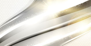 Abstrakter Hintergrund mit Goldwellen Lizenzfreie Stockbilder