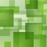 Abstrakter Hintergrund mit Grün überlagerten Rechtecken Lizenzfreies Stockfoto