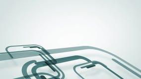 Abstrakter Hintergrund mit grauen blauen Linien und Quadraten, Schleife stock video