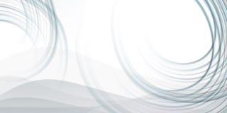 Abstrakter Hintergrund mit grauen fluied Zeilen Lizenzfreie Stockfotografie