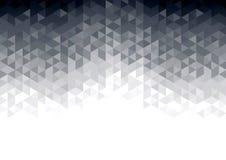 Abstrakter Hintergrund mit grauen glühenden Dreiecken Stockfotos